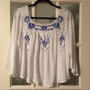 Free people bed of roses blouse